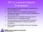 rti in a school reform framework