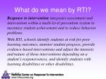 what do we mean by rti