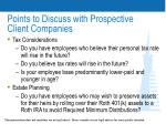 points to discuss with prospective client companies29