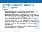 points to discuss with prospective client companies31