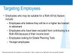 targeting employees