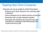targeting new client companies