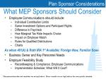 what mep sponsors should consider