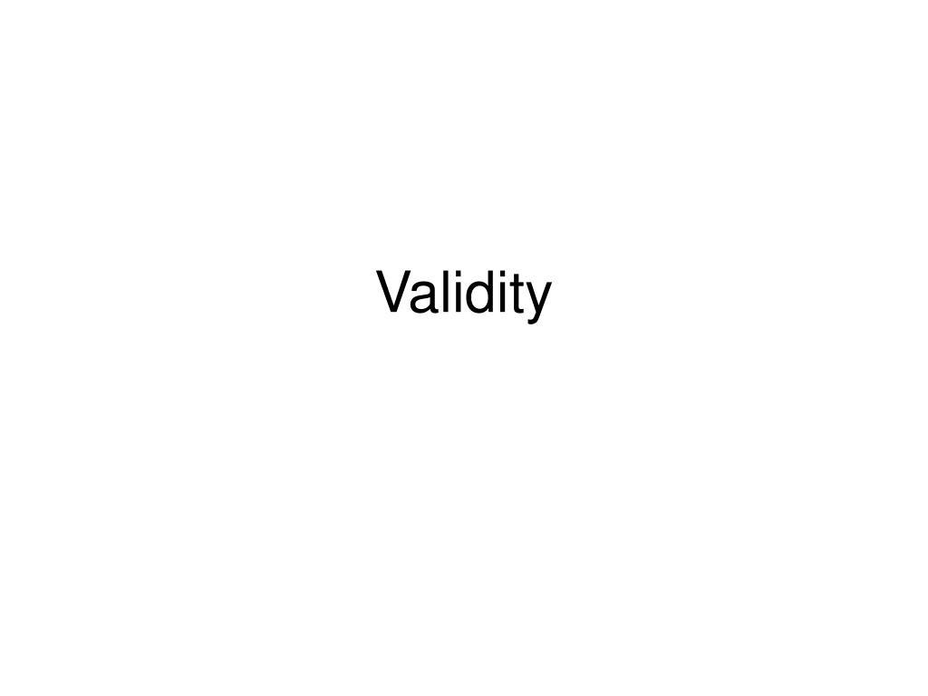 validity l.