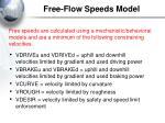 free flow speeds model