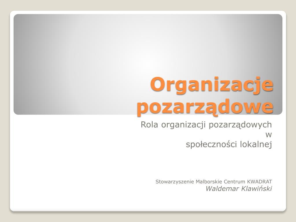organizacje pozarz dowe l.