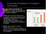 i processi di memoria il recupero retrieval