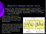 memoria e immagini mentali paivio