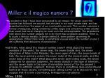 miller e il magico numero 7