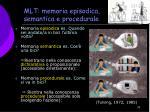 mlt memoria episodica semantica e procedurale