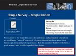 single survey single cohort