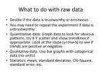 what to do with raw data