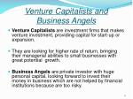 venture capitalists and business angels