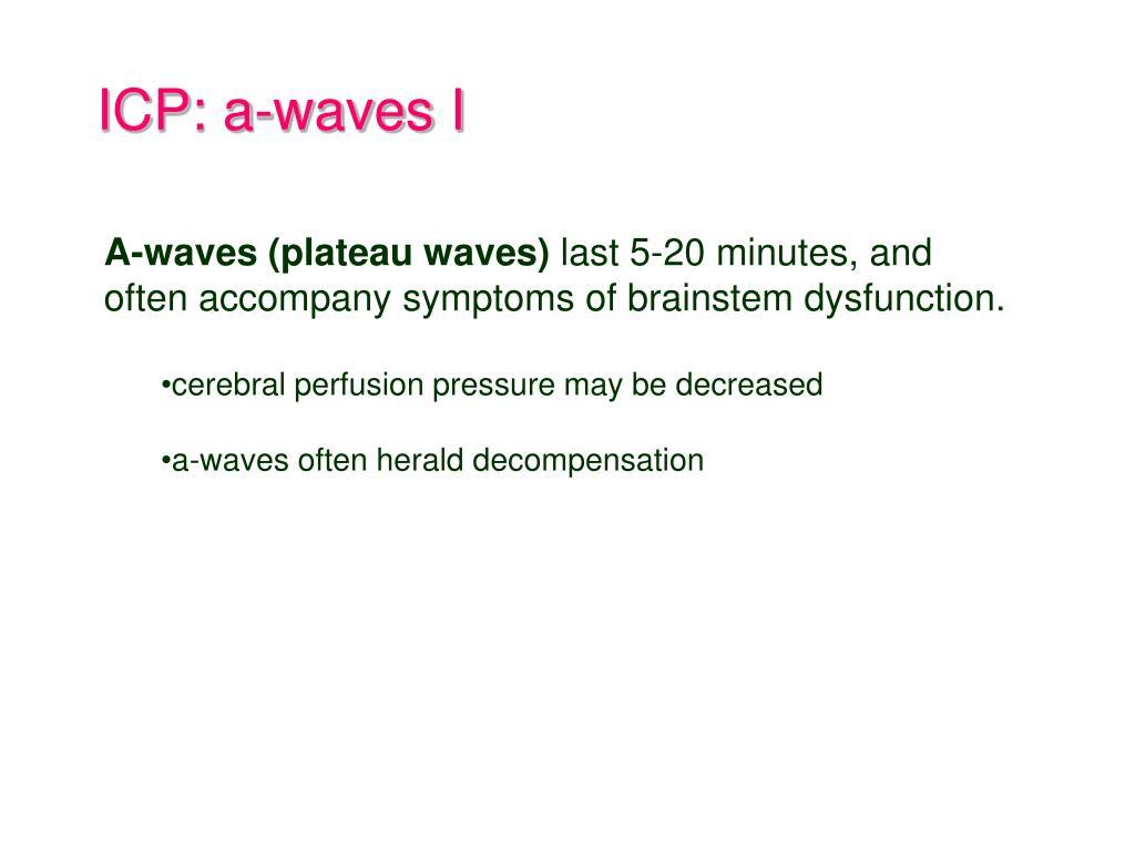 ICP: a-waves I