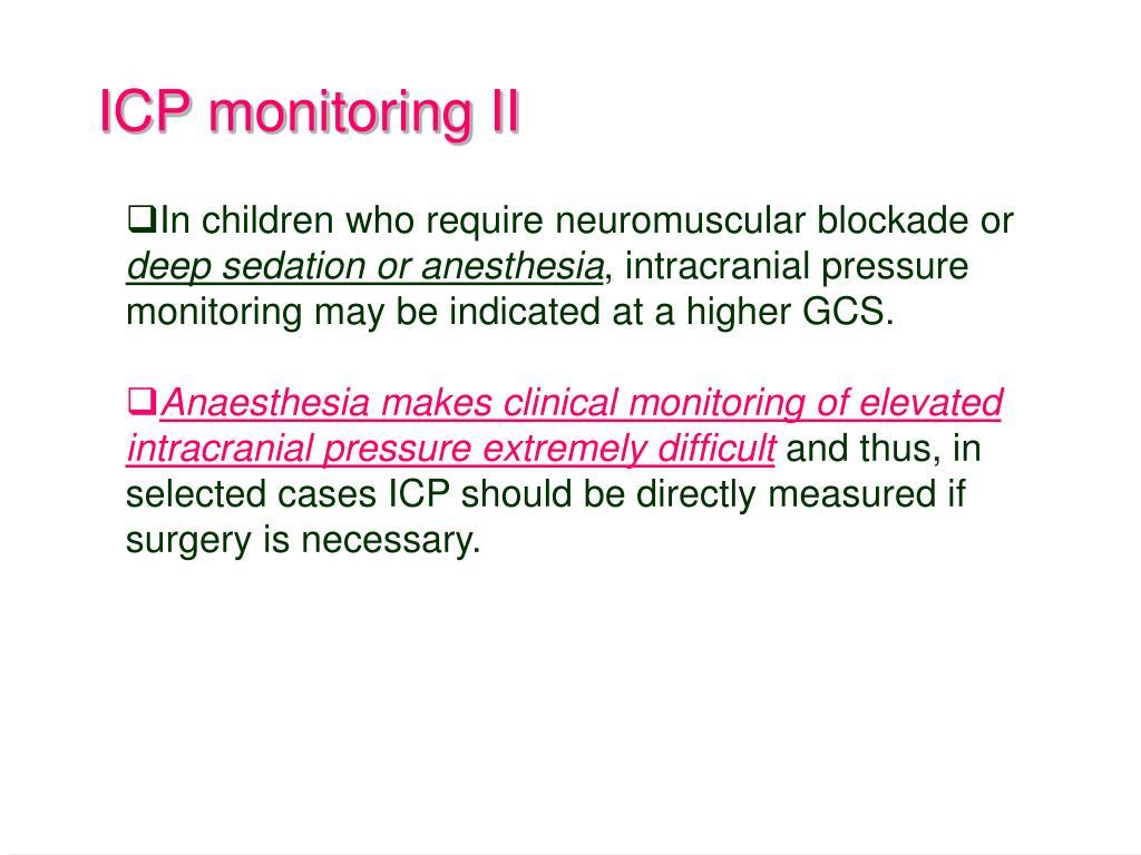 ICP monitoring II