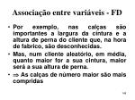 associa o entre vari veis fd148