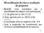 diversifica o do risco e avalia o de projectos185