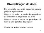 diversifica o do risco131