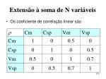 extens o soma de n vari veis173