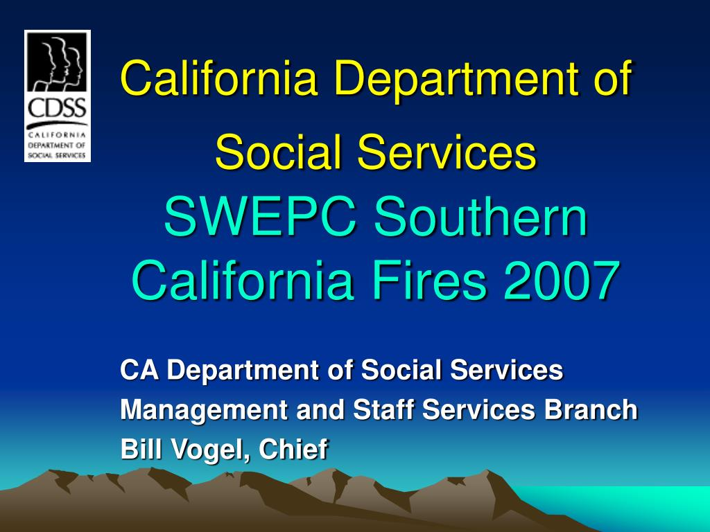 california department of social services swepc southern california fires 2007 l.