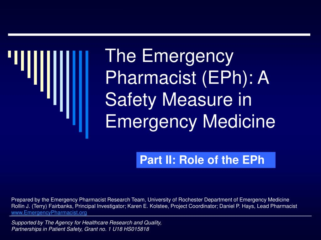 the emergency pharmacist eph a safety measure in emergency medicine l.