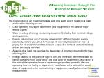expectations from an investment grade audit