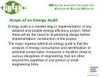 scope of an energy audit