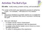 activities the bull s eye