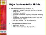 major implementation pitfalls