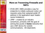 more on traversing firewalls and nats
