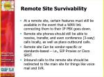 remote site survivability