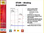 stun binding acquisition