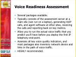 voice readiness assessment