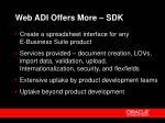 web adi offers more sdk