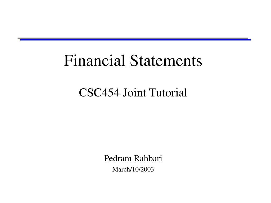 financial statements l.