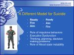 a different model for suicide