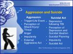 aggression and suicide