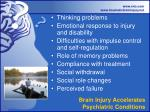 brain injury accelerates psychiatric conditions