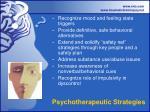 psychotherapeutic strategies