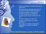 risk identification leads to prevention