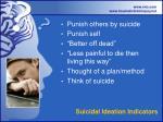 suicidal ideation indicators