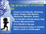 the geography of suicide risk