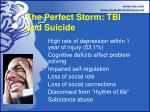 the perfect storm tbi and suicide