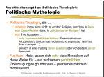 anschlusskonzept i zu politische theologie politische mythologie