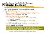 anschlusskonzept ii zu politische theologie politische ideologie