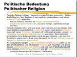politische bedeutung politischer religion