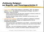 politische religion zur begriffs und theoriegeschichte ii