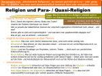 religion und para quasi religion