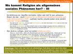 wo kommt religion als allgemeines soziales ph nomen her iii