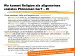 wo kommt religion als allgemeines soziales ph nomen her iv